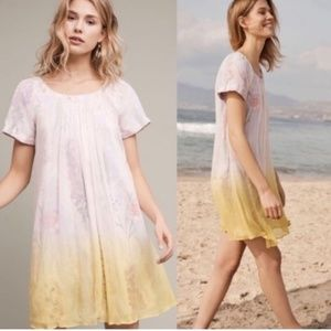 Anthropologie HD Paris Chroma floral ombré dress